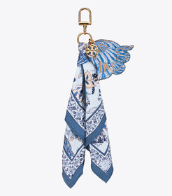 Tory Burch FLORAL SCARF KEY RING