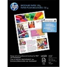 HP Color Laser Brochure Paper, 8 1/2 x 11 Glossy,