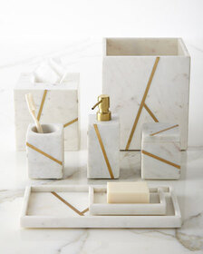 Kassatex Marble Brass Lotion Dispenser