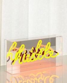 Hustle Acrylic Box Neon Sign