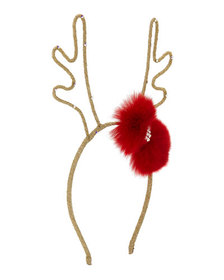 Bari Lynn Girls' Glittered Reindeer Antlers Headba