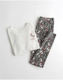 Hollister Waffle Tee & Leggings Gift Set, GREY PAT
