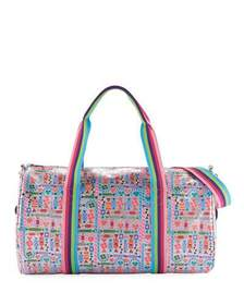 Bari Lynn Girls' Candy-Print Shimmer Duffel Bag