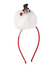 Bari Lynn Girls' Crystal Snowman Headband w/ Fur T