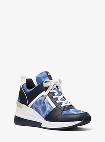 Michael Kors Georgie Tie-Dye Canvas and Leather Tr