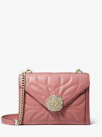 Michael Kors Whitney Large Petal Quilted Leather C