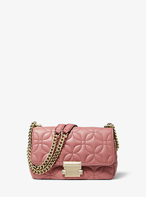 Michael Kors Sloan Small Floral Quilted Leather Sh