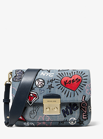 Michael Kors Sloan Editor Embroidered Denim Should