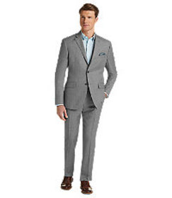 Jos Bank Traveler Collection Tailored Fit Birdseye
