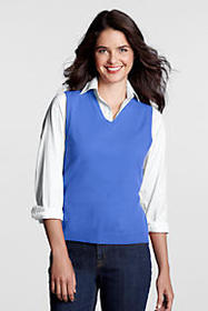 Lands End Women's Performance V-neck Sweater Vest