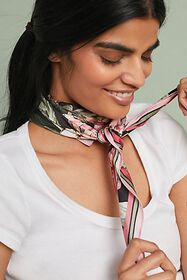 Anthropologie Kristina Printed Scarf