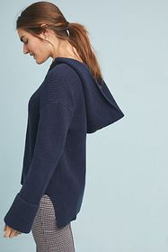 Anthropologie Stitched Knit Hoodie