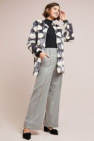 Anthropologie Snowball Faux Fur Coat