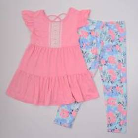 Girls (7-16) One Step Up 2pc Lace Tunic Top & Flor