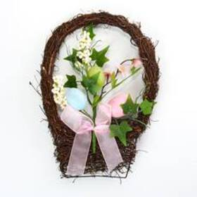 Beauty Silk Easter Egg Wall Basket