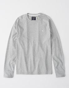 Long-Sleeve Icon Tee, HEATHER GREY