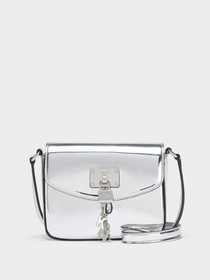 Donna Karan ELISA METALLIC FLAP CROSSBODY