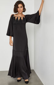 BCBG Embroidered Cutout Gown