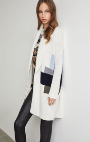 BCBG Abstract Landscape Long Cardigan