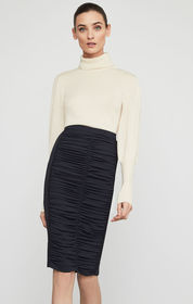 BCBG Ruched Pencil Skirt