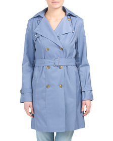 reveal designer Double Breasted Trench With Belt