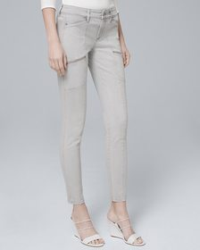 Classic-Rise Skinny Ankle Utility Jeans