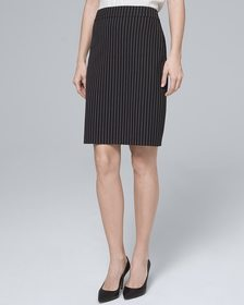 Luxe Suiting Stripe Pencil Skirt