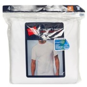 BLUE LABEL Hanes Mens 4-Pack Moisture Wicking Crew