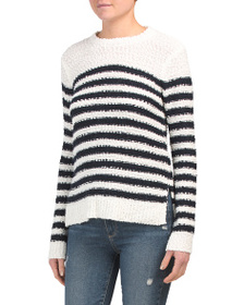 MARLED Long Sleeve Striped Pullover Sweater