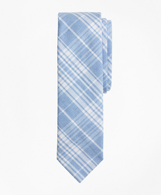Brooks Brothers Plaid Cotton Oxford Tie
