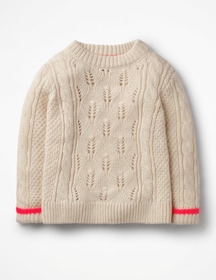 Boden Textured Cable Knit Sweater