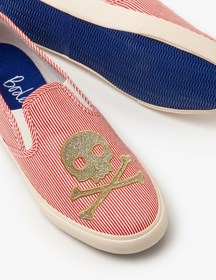 Boden Embroidered Slip-on Shoes