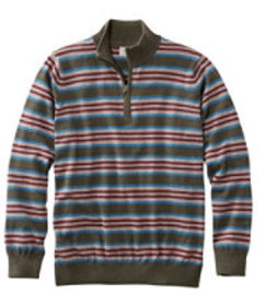 LL Bean Cotton/Cashmere Sweater, Quarter-Zip Strip