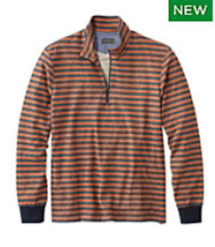 LL Bean Signature French Terry Pullover, Quarter-Z