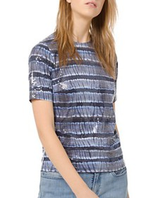 MICHAEL Michael Kors - Sequined Tie-Dyed Tee