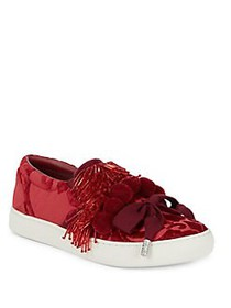 Marc Jacobs Mercer Pom Pom Slip-On Sneakers RED