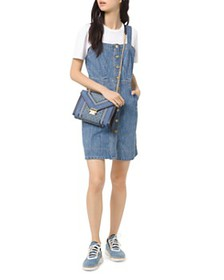 MICHAEL Michael Kors - Button-Down Denim Mini Dres