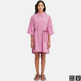 WOMEN U BEACH COVER UP LONG-SLEEVE DRESS