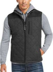 Pronto Uomo Charcoal Modern Fit Quilted Puffer Ves