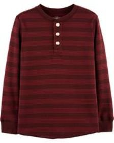carters Kid Boy Striped Henley Thermal
