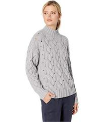 Vince Camuto Long Sleeve Texture Stitch Mock Neck