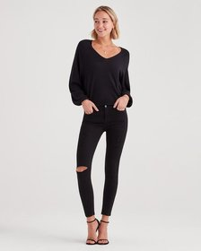 7 For All Mankind B(air) Denim Ankle Skinny with D