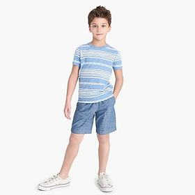 J. Crew Factory Boys' striped T-shirt in the softe