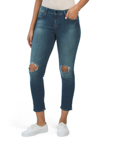 MAVI Petite Shaded Destructed Boyfriend Jeans