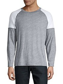 1670 Colorblock Raglan Long Sleeve Tee GREY