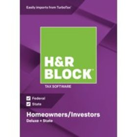 H&R Block Tax Software 2018 Deluxe + State Win (Em