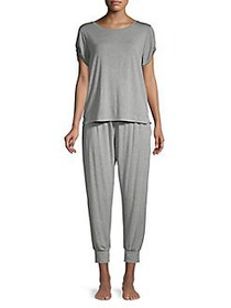 French Connection 2-Piece Knot-Sleeve Pajama Set H