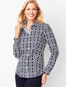 Talbots Perfect Shirt - Geo Print