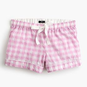 J. Crew Pull-on sleep shorts in gingham