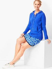 Talbots Lace-Up Hoodie